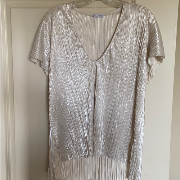 Silvery shimmer Zara top